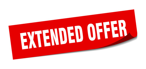 extended offer sticker. extended offer square isolated sign. extended offer
