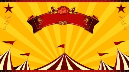 A circus background for your advertising