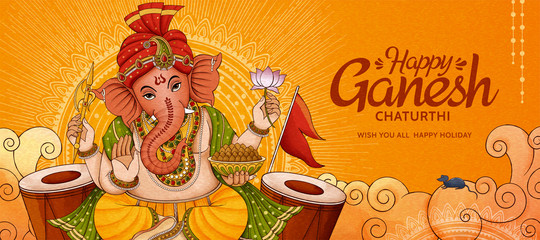 Ganesh Chaturthi Banner photos, royalty-free images