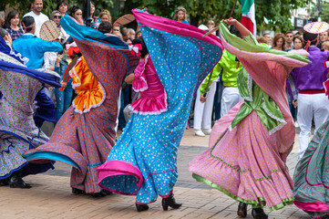 Mexico greeting International Folklore Festival at Sofia Bulgaria
