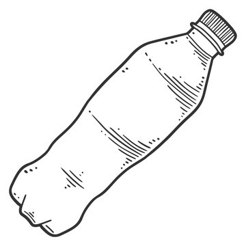 Water bottle. Vector concept in doodle and sketch style.