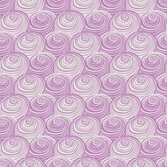 Vector purple pink swirls spirals repeat pattern. Perfect for fabric, scrapbooking, wallpaper projects.