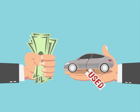 Businessman buying a Used car