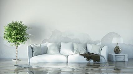 Wasserschaden im Haus nach Überflutung