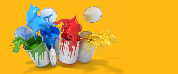 Buntes Farben Konzept als Header Banner