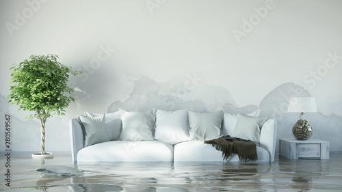 Wasserschaden im Haus nach Überflutung\