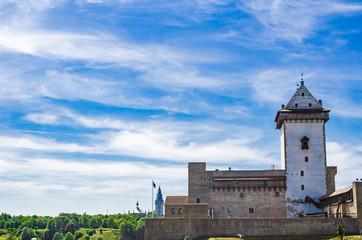 ESTONIA, JUNE 19, 2019. Narva castle. Herman Castle. Summer. Fototapete