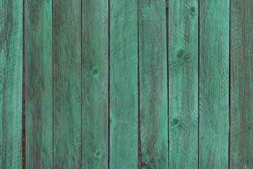Old green color wood wall background. Place for text