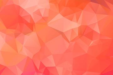 Light Orange vector modern geometric abstract background  , Multicolor, Rainbow vector triangle mosaic template