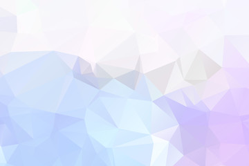 Abstract low poly background of triangles in blue colors