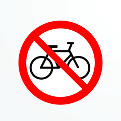 prohibited logo icon for public area