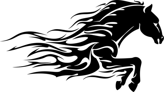 Horse Power, Abstract Flame Bust