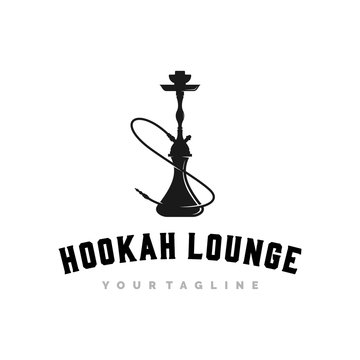 hookah logo, icon and template
