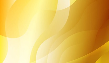 Abstract Gold Waves. Futuristic Technology Style Background. For Business Presentation Wallpaper, Flyer, Cover. Vector Illustration with Color Gradient. Wall mural