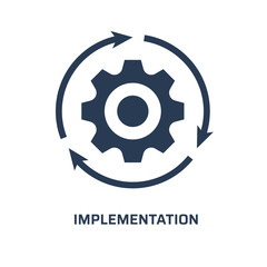 Implementation icon. Trendy modern flat vector implementation icon on white background from general collection, vector illustration