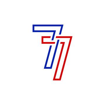 77 logo design vector