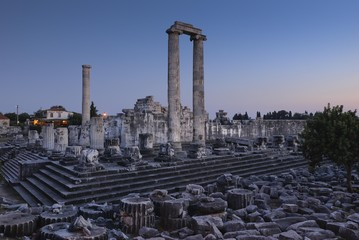 Didyma, Didymaion, Temple of Apollo, important oracle site, South Aegean coast, Southwest Turkey, west coast, Turkey, Mediterranean, Europe, Asia