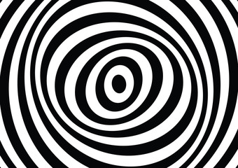 vector of 3d  twisted circle black and white optical illusion