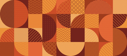 Vintage 70s color geometric seamless pattern