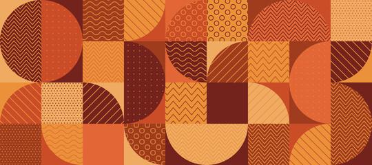 Vintage 70s color geometric seamless pattern Fototapete