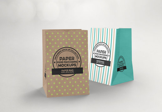 Paper Grocery Bags Mockup