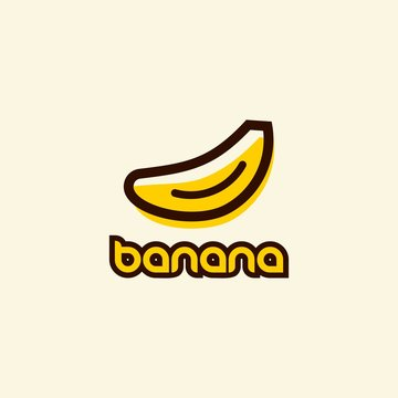 banana vector icon logo design template