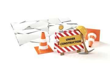 Under construction concept 3D image