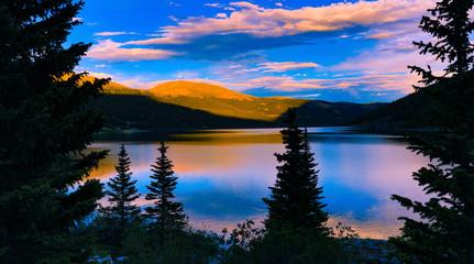 Montgomery Reservoir Sunset