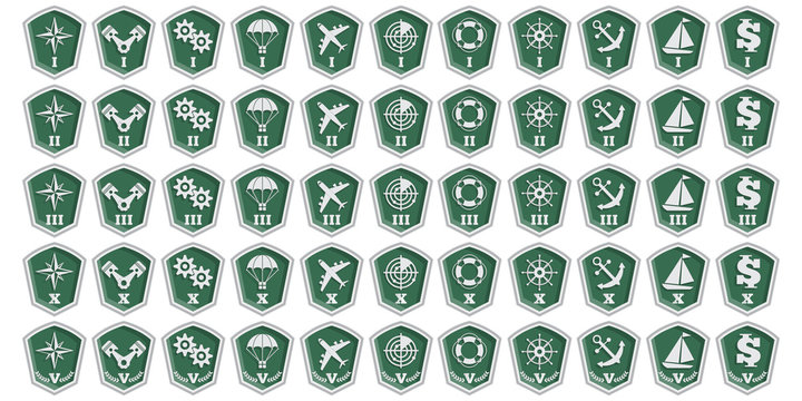 A set of badges. Isolated on white background. Vector illustration.