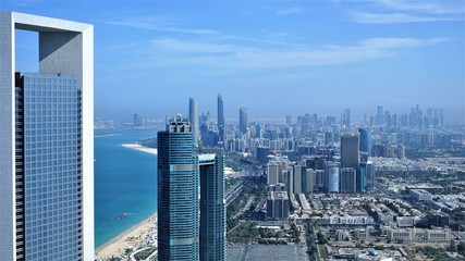 aerial landscape of abu dhabi capital