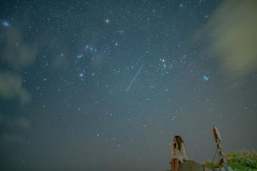 沖縄 宮古島 星空 星景写真 写真素材