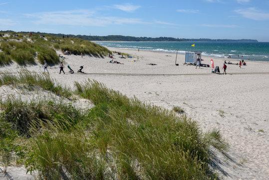 The beach of Hornbaek in Denmark
