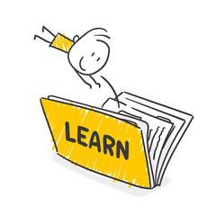 Strichfiguren / Strichmännchen: Bildung, lernen, Buch. (Nr. 444)