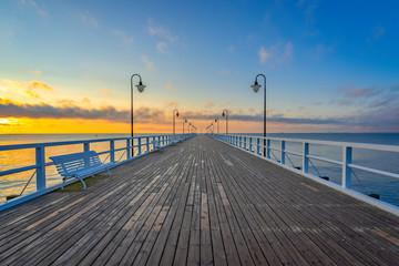 Obraz Sunrise over the Baltic Sea, Gdynia, Poland - fototapety do salonu