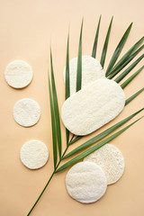 image of luffa natural sponges, healthy lifestyle concept