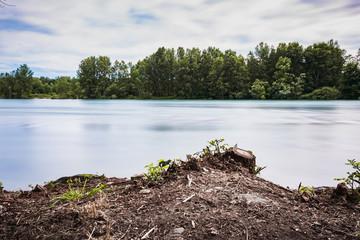 Fototapeta Landscape on the Ticino river, in Italy