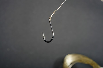 Fishing hook made of forged steel with re-sharpening especially pointed and sharp