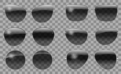 Set glasses different  shape. teashades ,round, futuristic , narrow ,Police, drops, aviator  ,trapezoid, butterfly ,cat eye.transparent  black color.sunglasses.3d graphics.unisex  women men