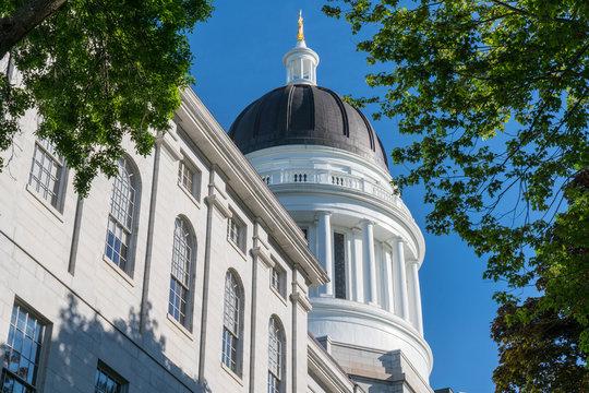 Exterior of the Maine Capitol Building in Augusta