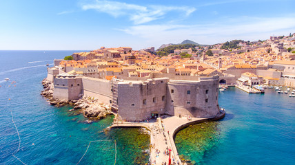 Canvas Prints Mediterranean Europe The Old Port of Dubrovnik