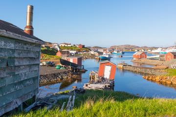 Fishing village of Farmers Arm near Twillingate, Newfoundland, Canada
