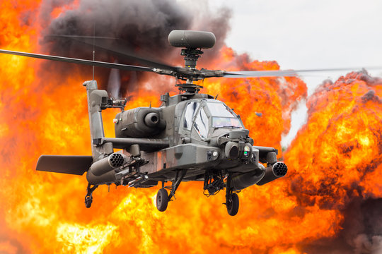 Army Air Corps WAH-64D Apache captured at the 2019 Royal International Air Tattoo at RAF Fairford.