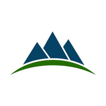 Mountain ridge with three peaks - stock vector