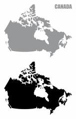 Canada silhouette maps