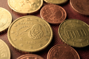 coins lying next to each other eurocents
