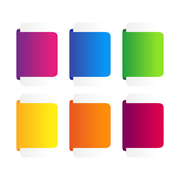 Set of colorful ribbons banner.