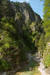 Hiking trail in Oetschergraben near to the Oetscher in Austria, Europe