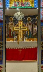 Timișoara Dacia-Kirche christlicher Altarbereich