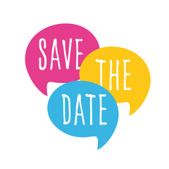 Wall Mural - Save the date