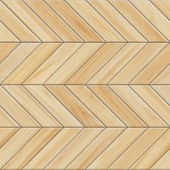 Obraz Seamless texture of light wooden parquet. High resolution pattern of chevron wood - fototapety do salonu